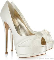 wedding shoes peep toe ivory satin wedding shoes peep toe summer platform bridal pumps