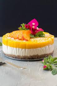 Cheesecake Decoration Fruit Vegan Mango And Ginger Cheesecake Lazy Cat Kitchen