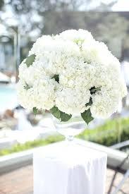 Hydrangea Centerpiece Full White Hydrangea Centerpiece Floral Centerpieces With