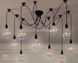 elegant edison light bulb chandelier with additional home design
