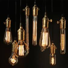 edison tungsten filament retro e27 light bulb globe 110v 220v cafe