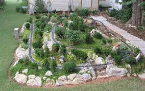 Garden Railroad Layouts Garden Layouts The Sandflea And Redbud Garden Railway Is
