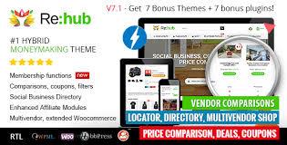 rehub price comparison affiliate marketing multi vendor store