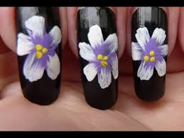 simple easy one stroke pretty flower painting nail art tutorial