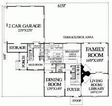 mudroom floor plans colonial style house plan 3 beds 2 baths 2496 sq ft plan 137