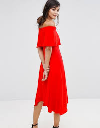 coast dress coast coast bandeau frill midi dress