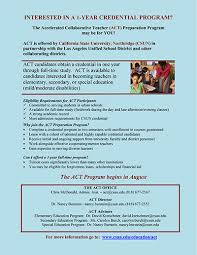 act accelerated collaborative teacher education program