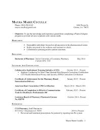 Lead Pharmacy Technician Resume Cvs Resume Example How To Write Cv Resume Academic Resume And