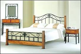 Wood And Iron Bed Frames Wrought Iron Bedroom Sets Biggreen Club