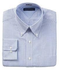 Mens Dress Clothes Online Tommy Hilfiger Dress Shirt Blue White Check Long Sleeve Shirt