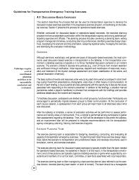debriefing report template 4 0 discussion based exercises guidelines for transportation page 33