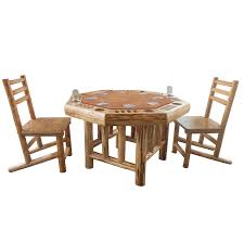 Teak Table And Chairs Amazon Com Rush Creek Creations Rustic Log 8 Player Octagon