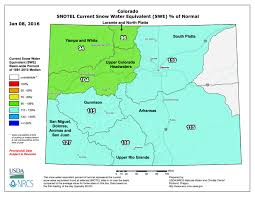 colorado snowpack map colorado snowpack conditions favorable to start the 2016 water