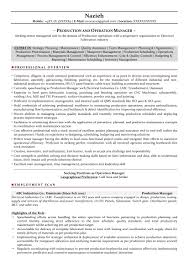 Resumes For Management Positions Production Manager Sample Resumes Download Resume Format Templates