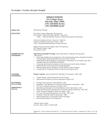 sample resume for teacher to principal templates