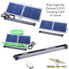 solar cing l e d light bar with remote