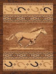 Western Throw Rugs Western Wagon Wheels Area Rugs Cabin Place
