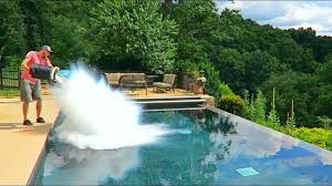 watch 30l of liquid nitrogen get poured into a swimming pool