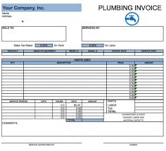 Plumber Invoice Template free plumbing invoice template excel pdf word doc
