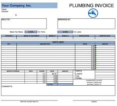 printable invoice template excel plumbing invoice free plumbing invoice template and free printable