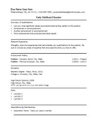 Assistant Principal Resume Sample by Early Childhood Education Resume Samples Early Childhood Education