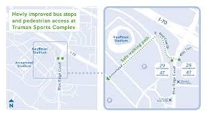 Arrowhead Stadium Map Ridekc Celebrates Upgraded Stop With Tailgate News Kcata