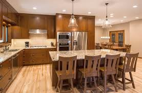 cherry wood kitchen ideas spacious kitchen and dining area with solid cherry wood