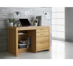 Oak Effect Computer Desk Buy Of House Elford 3 Drawer Office Desk Oak Effect At