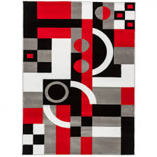 Geometric Area Rug by Red White And Grey Area Rugs Creative Rugs Decoration