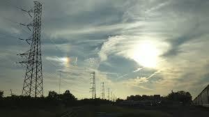 light in sky today strange light in the sky close to the sun today in nj youtube