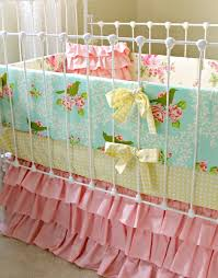 Shabby Chic Baby Bedding For Girls by Baby Bedding Ruffle Crib Bedding Shabby Chic Roses