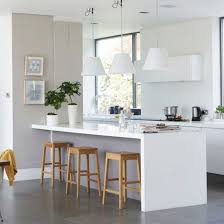 Small Kitchen With Breakfast Bar - family kitchen diner breakfast bars wood stool and stools