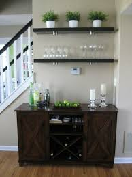 Buffet Bar Cabinet I The Idea Of Creating A Mini Bar In The Entertaining Space
