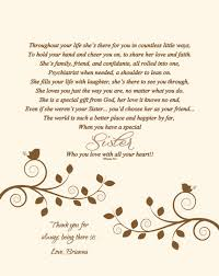 Matron Of Honor Poem Maid Of Honor Print Bridesmaid Poem Sisters Print