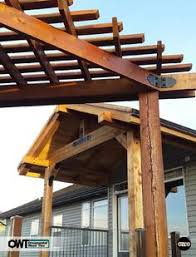 patio pergola featuring the post base kit post to beam bracket