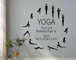 Surya Home Decor Yoga Wall Decal Yoga Wall Art Yoga Decal Yoga Studio Decor