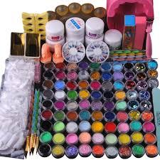 fashion gallery 84 acrylic glitter powder nail art brush gel uv