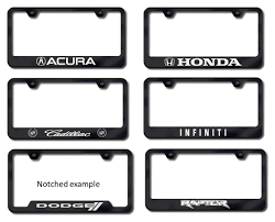 nissan murano license plate frame etched black license plate frames custom license plate frames
