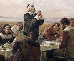 thanksgiving and pilgrim paintings and artwork