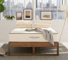 eco wood bed frame reclaimed wood by avocado green mattress
