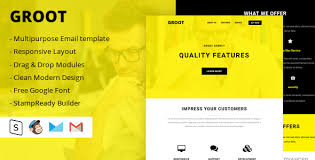 groot multipurpose email template by designcrazzy themeforest