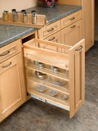 base cabinet pullout organizer with spice rack insert bathroom