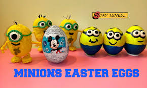 painted easter eggs painted easter eggs minions crochet egg minion ovo de páscoa