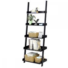 Triangle Wall Shelf Contemporary 5 Tier Leaning Wall Shelf For Books Music Movies