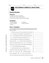 describing chemical reactions worksheet answers 280 best chemistry