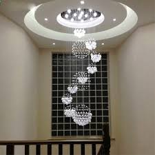 Sphere Chandelier With Crystals Linght W31 5 X H110 Modern Chandelier Drop With 11