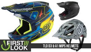 tld motocross helmets first look troy lee designs d3 u0026 a1 mips helmets mountain bikes