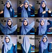 tutorial jilbab jilbab beautiful red full coverage hijab tutorial spring summer layering