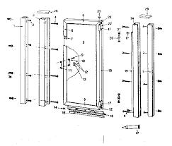 Alumax Shower Door Parts Sears Hinged Shower Door Parts Model 392684915 Sears Partsdirect