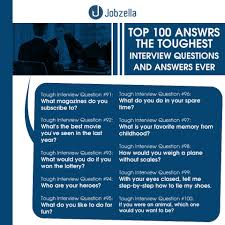 How To Answer Resume Questions 100 Interview Questions And Answers Jobzella